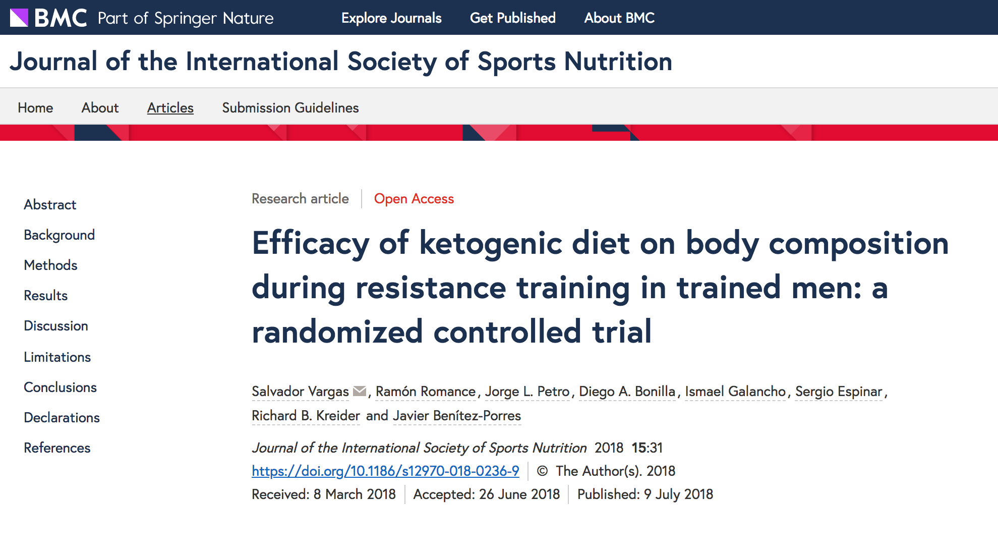 Title and description of the keto diet study discussed in this article