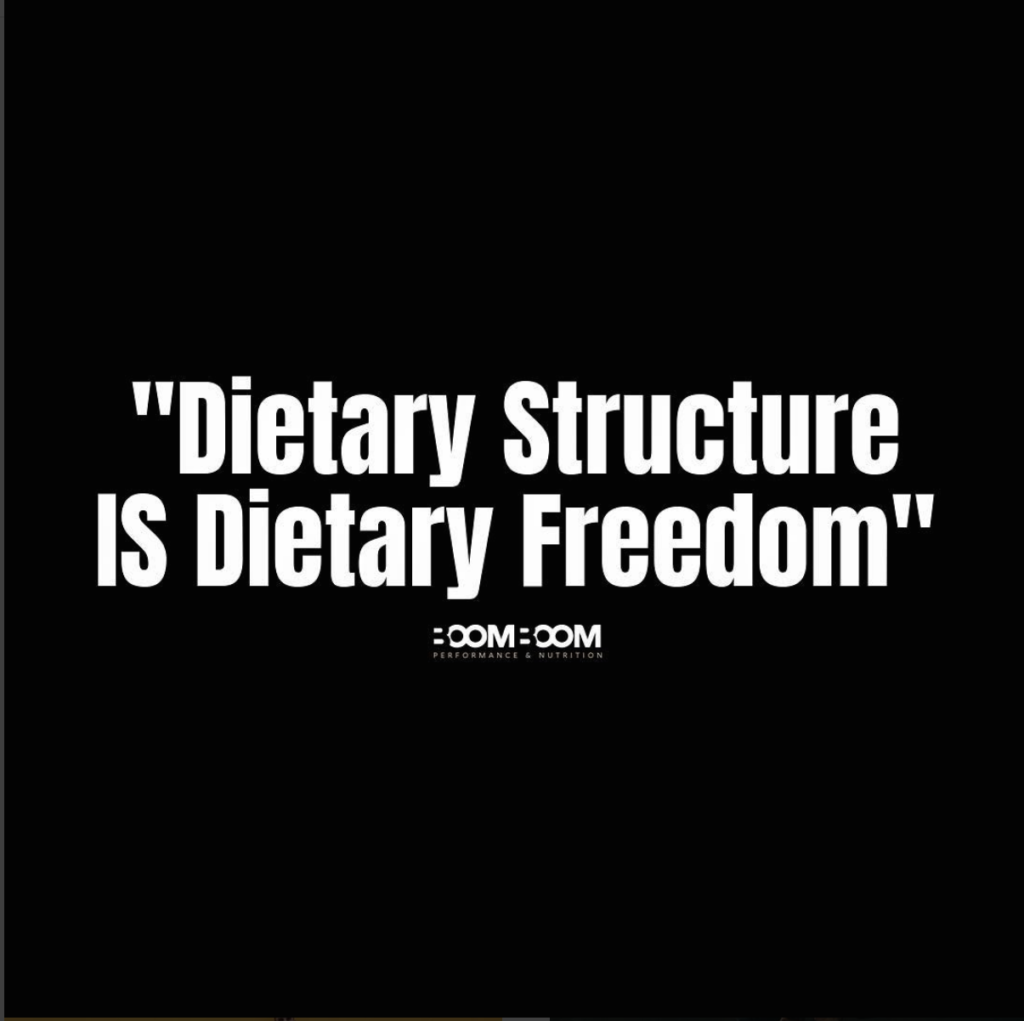 Dietary Structure IS Dietary Freedom