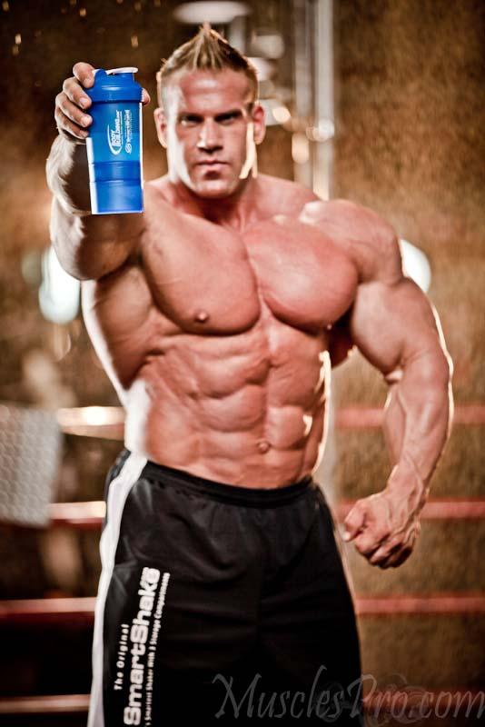 Jay Cutler Drinking Protein