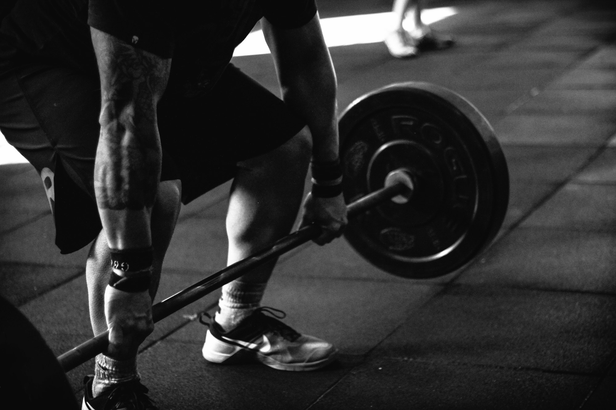 Lifting a barbell