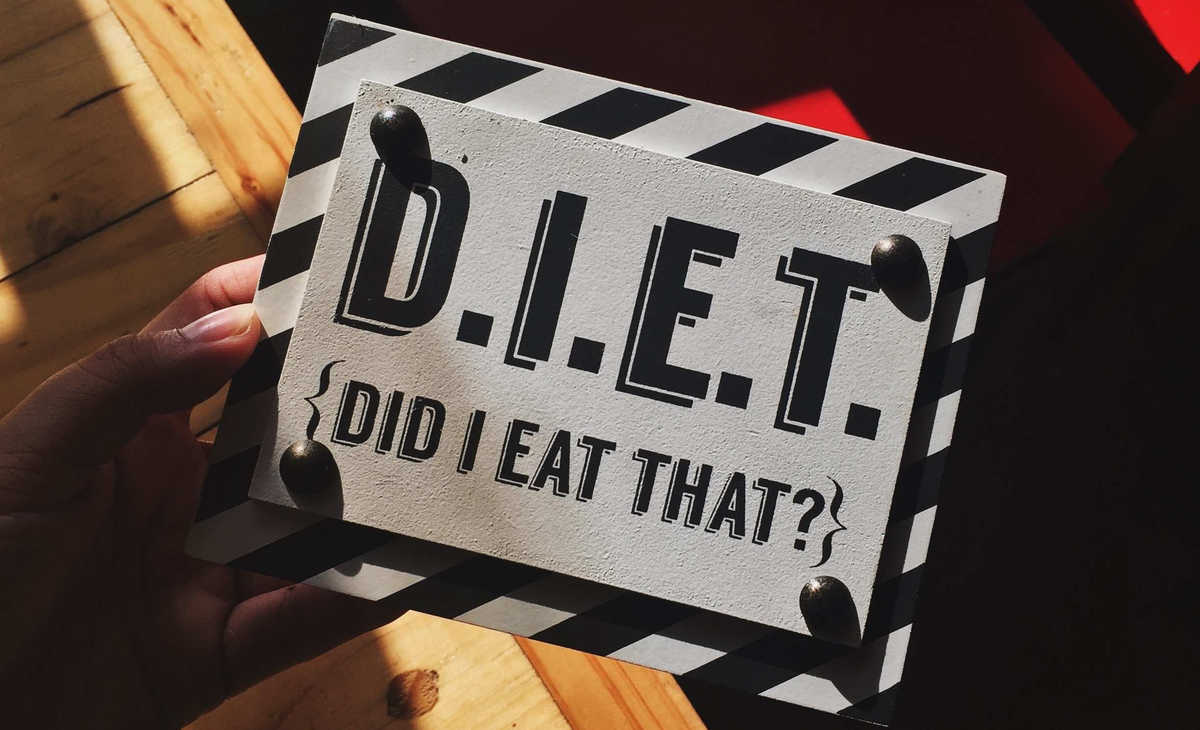 D.I.E.T. {Did I Eat That?}