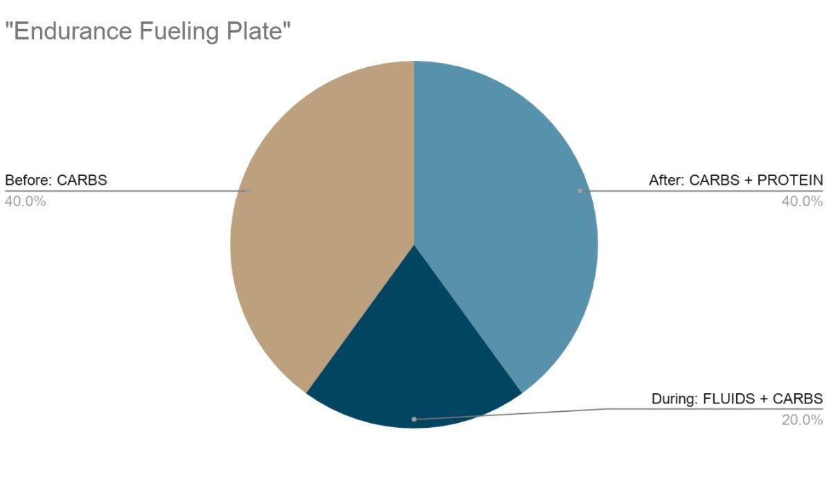 Pie chart showing endurance fuel ratios